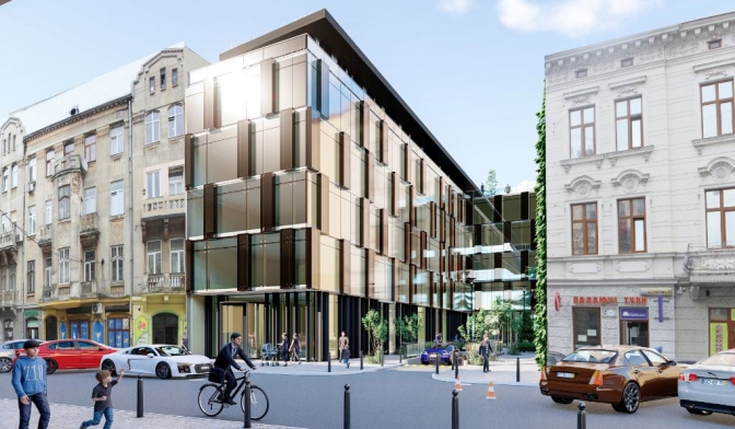 """Біля """"Форуму"""" планують збудувати готельний комплекс - заціни проект"""