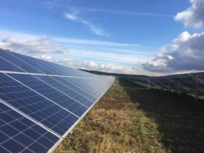 Зелена енергетика: на Львівщині відкрили сонячну електростанцію фото