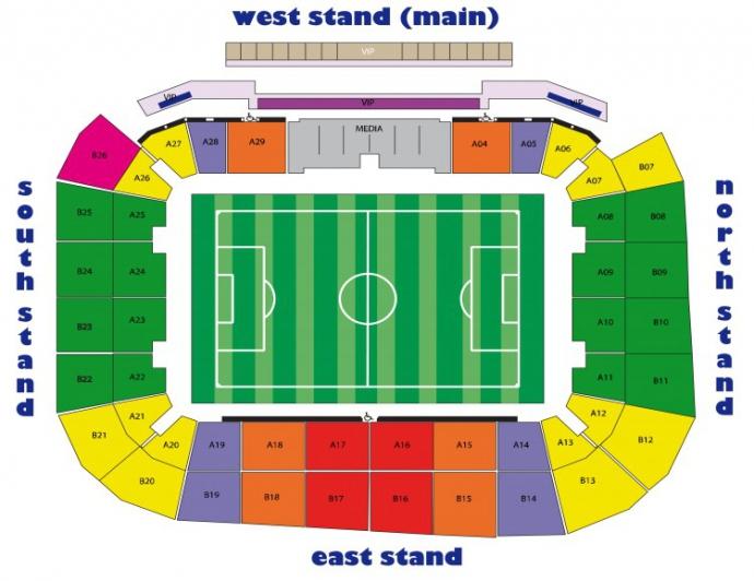 Схема стадіону арена львів
