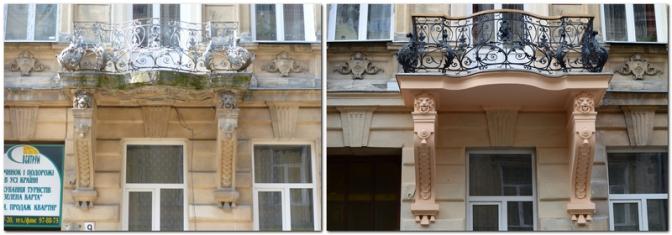 Фотофакт: у Львові реставрують старовинні балкони фото