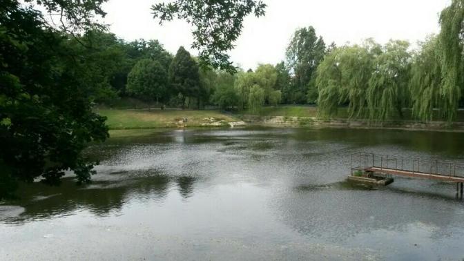 Озеро в парку «Піскові озера»