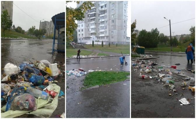 Плаваюче сміття та транспортний коллапс: як затоплює Львів (фото) фото