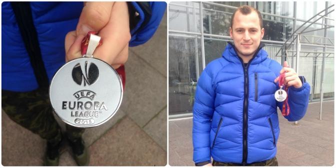 Зозуля виставив медаль фіналіста Ліги Європи нааукціон