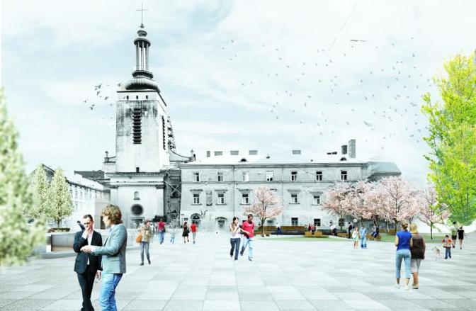 візуалізація громадського простору на площі Митній