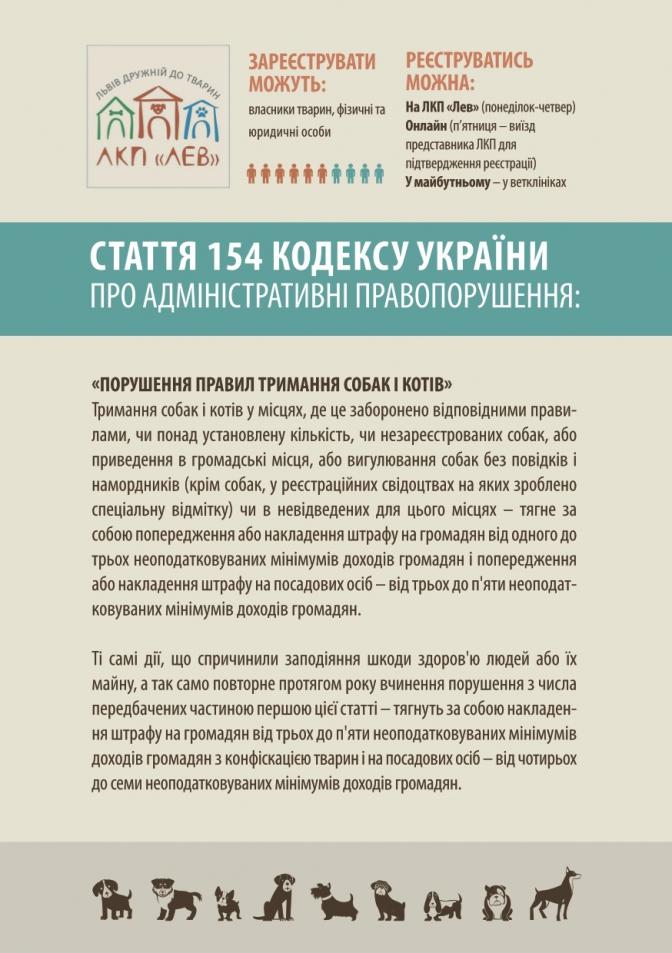 Зареєструй хвостатого: з 1 січня у Львові почнуть штрафувати за неоформлених тварин фото
