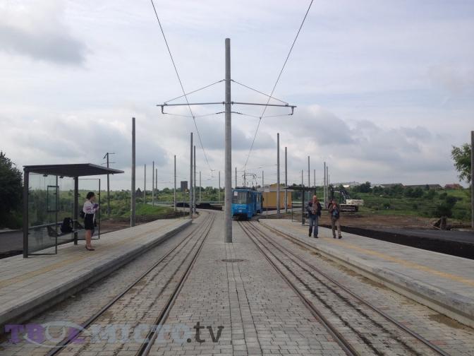 Фотофакт: запрацювала кінцева зупинка трамвая №8 на Сихові фото 1
