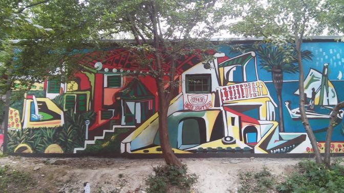 Як львівські студенти-дизайнери малювали на стіні картину Пікассо. Фото 09a244d063839
