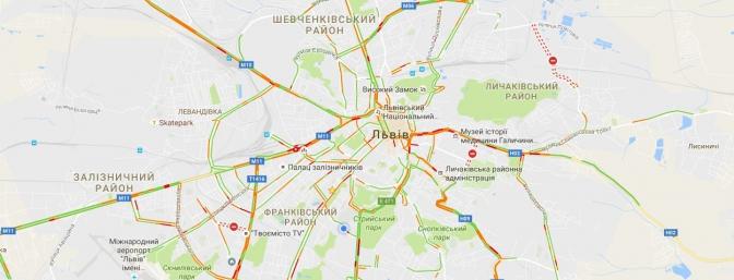 Куди краще не їхати: перелік вулиць Львова, де зараз є затори фото