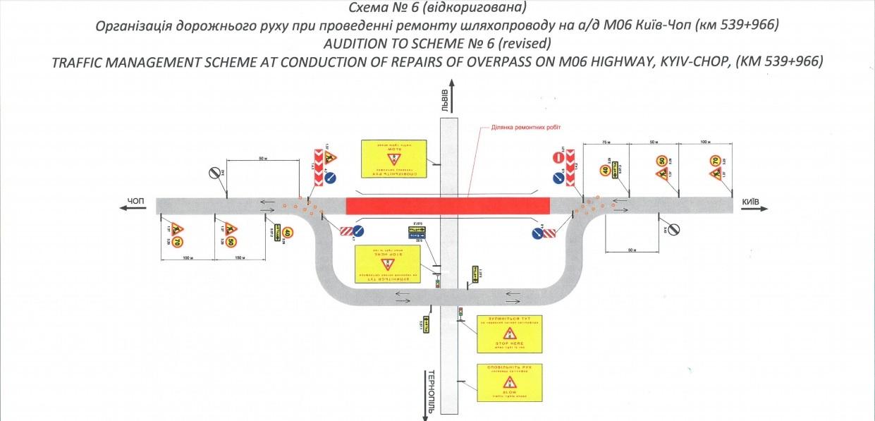 Через ремонтні роботи на автодорозі Київ-Чоп  змінюють дорожній рух (схема) фото