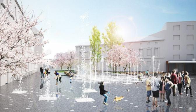 Запрацює фонтан та висадять дерева: що зміниться цієї весни на площі Митній фото