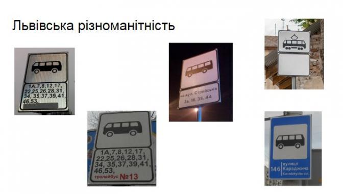 Для пасажирів: у Львові на зупинках транспорту встановлять нові дорожні знаки фото 1