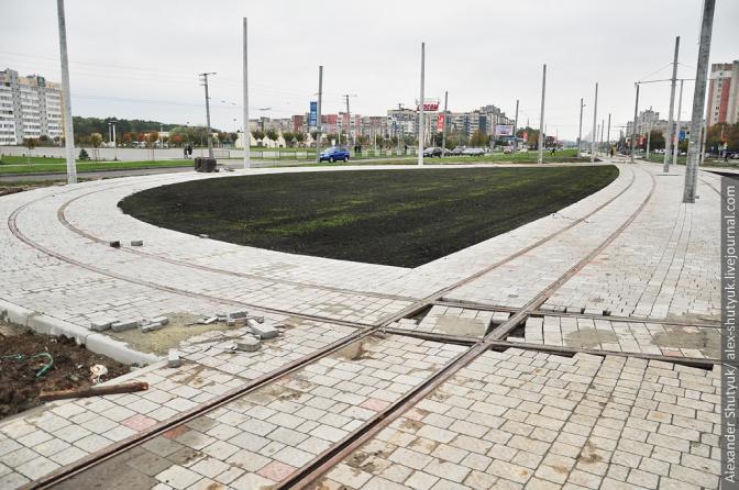 Фінал будівництва трамвайної колії на Сихів: фотохроніка фото 6