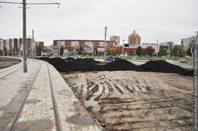 Фінал будівництва трамвайної колії на Сихів: фотохроніка фото 5
