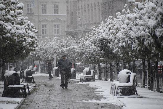 Сніг дощ. Прогноз погоди у Львові на тиждень 464cd1ae298f0