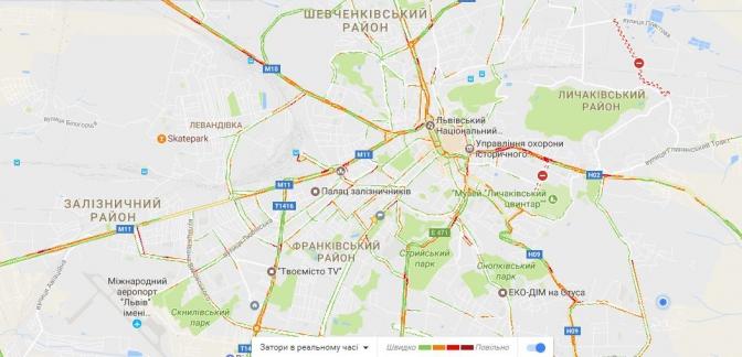 Куди краще не їхати: перелік вулиць Львова, де зараз затори фото