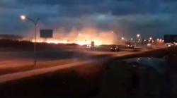 Між Сокільниками та Львовом — масштабна пожежа  горить суха трава. Відео aa12bfbeb15fe